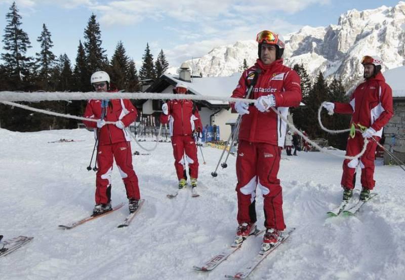 Fernando Alonso en la nieve