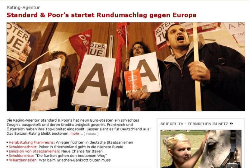 Standard & Poor's lanza un ataque radical contra Europa