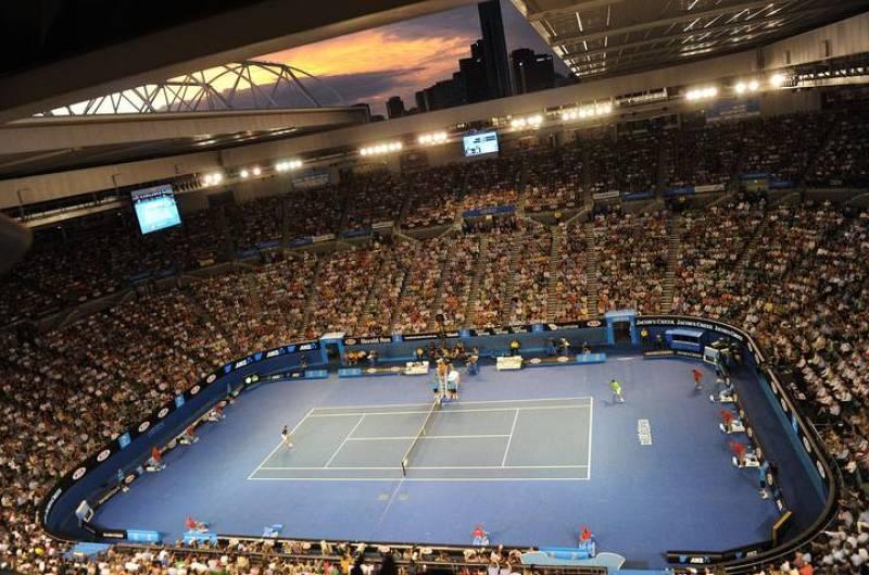 Aspecto general de la pista central de Melbourne, la Rod Laver Arena