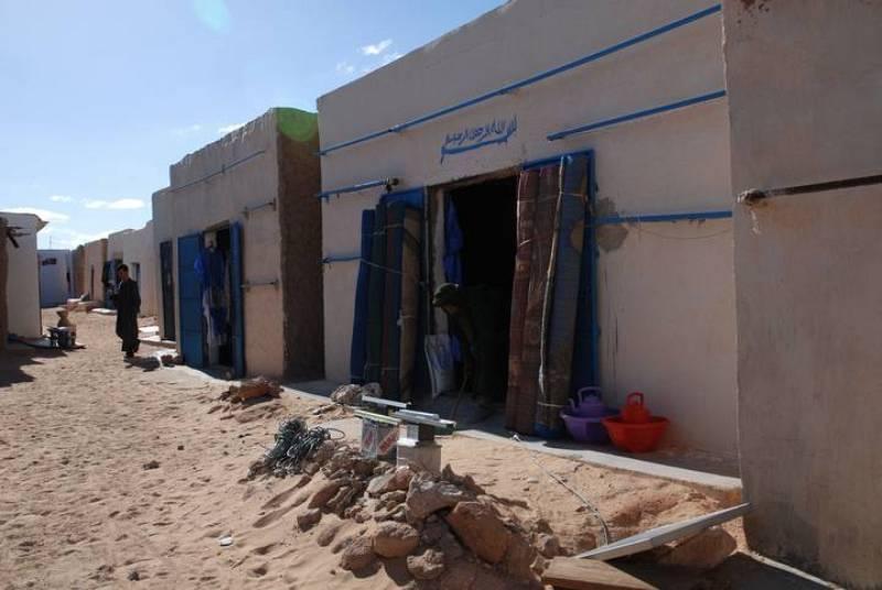 Calle del mercado en el Sahara