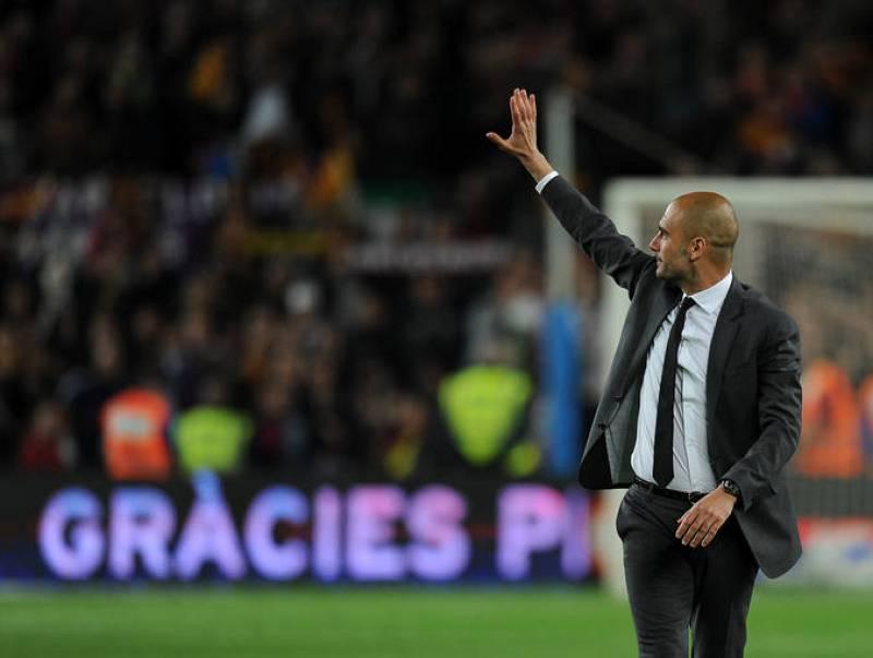 El Camp Nou se volcó con Guardiola en su despedida