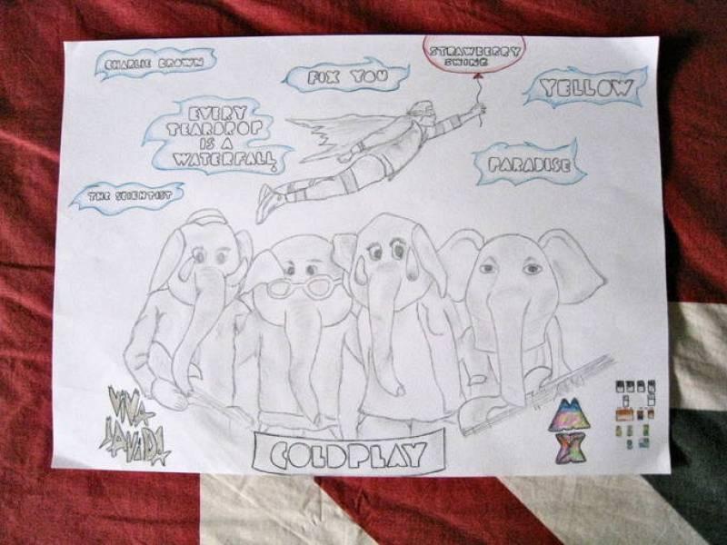 Dibujo homenaje Coldplay