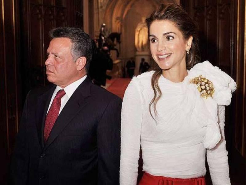 El rey de Jordania, Abdaláh II y la reina Rania, tan elegante como siempre, no se han perdido el Jubileo de Diamante.