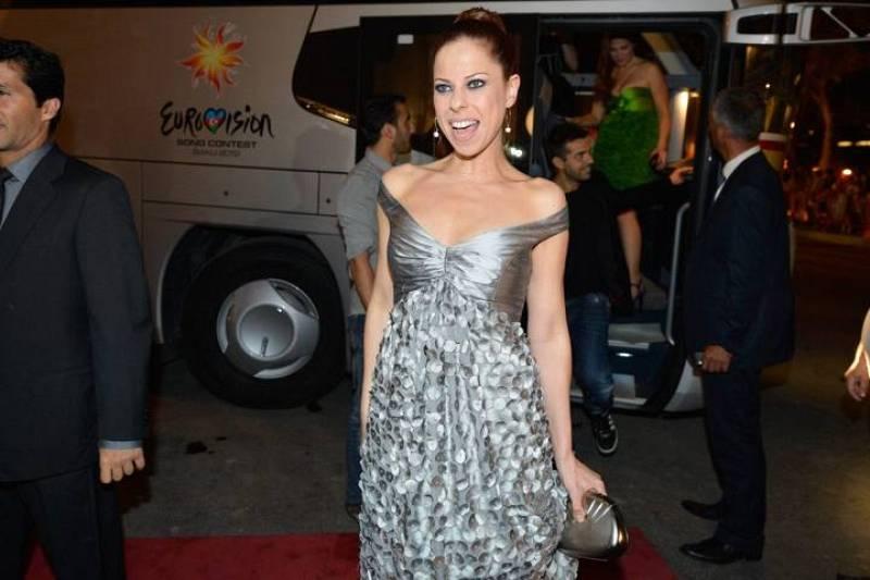 Pastora Soler lució un vestido creación de Anmargo