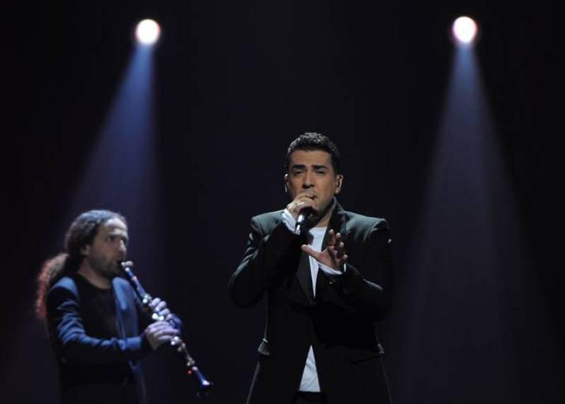 Zeljko Joksimovic en la segunda semifinal de Eurovisión 2012