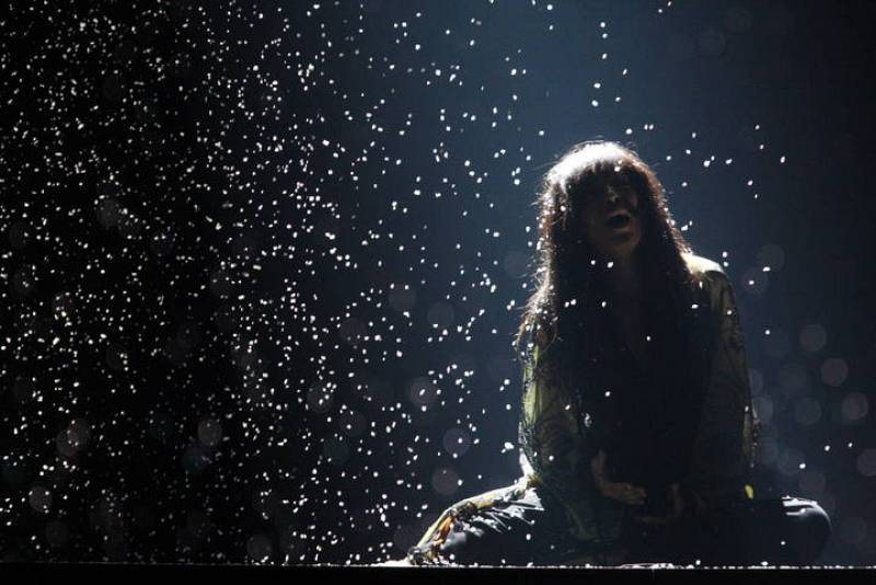 Loreen en la segunda semifinal de Eurovisión 2012
