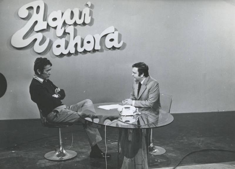 Uribarri en el programa 'Aquí y ahora' en 1975.