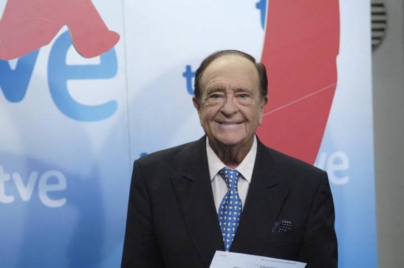 José Luis Uribarri en una de sus últimas apariciones con TVE.