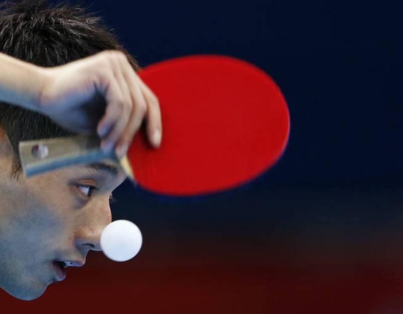 Zhang Jike, jugador chino de tenis de mesa en londres 2012