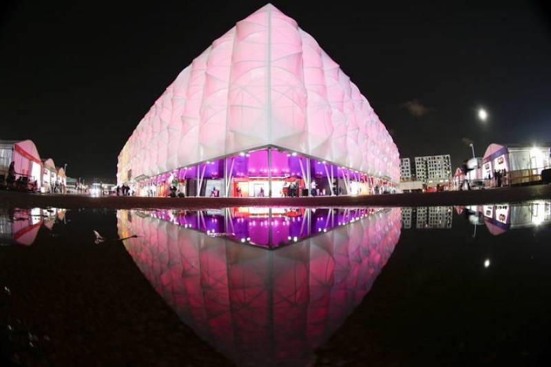 Aspecto del Coliseo Olímpico de Baloncesto,en el Parque Olímpico sede de los Juegos Olímpicos de Londres 2012.