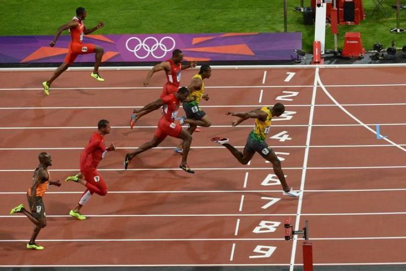 Usain Bolt ha entrado por delante de su compatriota Yohan Blake y del estadounidense Justin Gatlin.