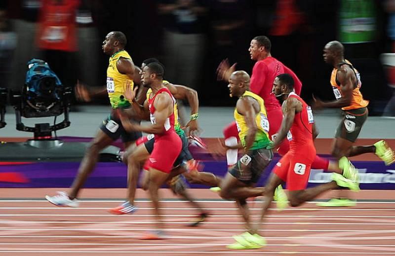 Final de los 100 metros lisos de los Juegos de Londres 2012