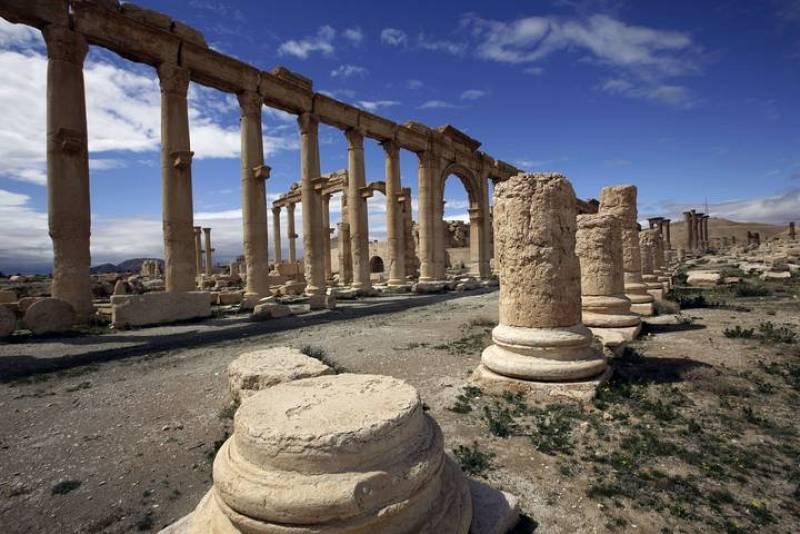 Vista parcial de la antigua ciudad-oasis de Palmira, a 215 kilómetros de Damasco (Siria).