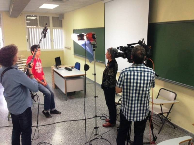 Grabación de entrevistas estudiantes Universidad de Málaga