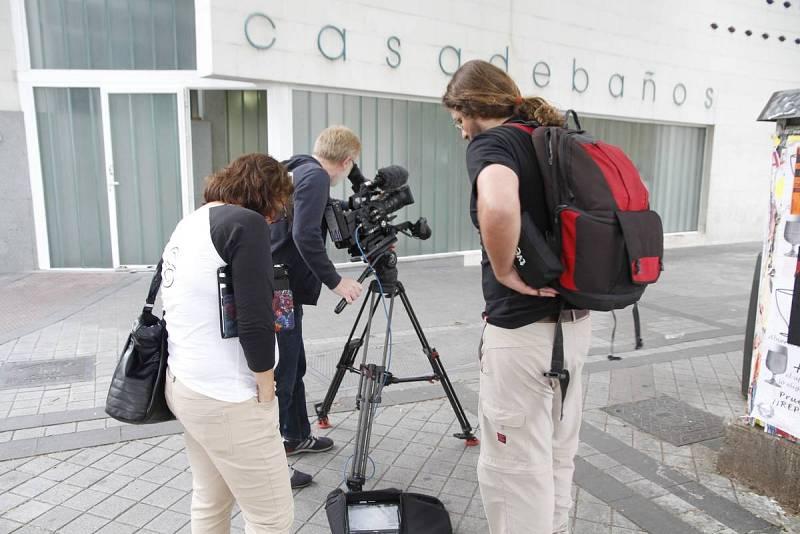Grabación de un reportaje sobre el Rastro de Madrid con cámara 4K