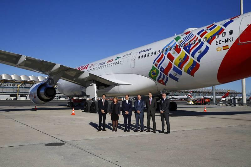 Vuelo conmemorativo de Iberia a Buenos Aires por sus 70 años en Iberoamérica