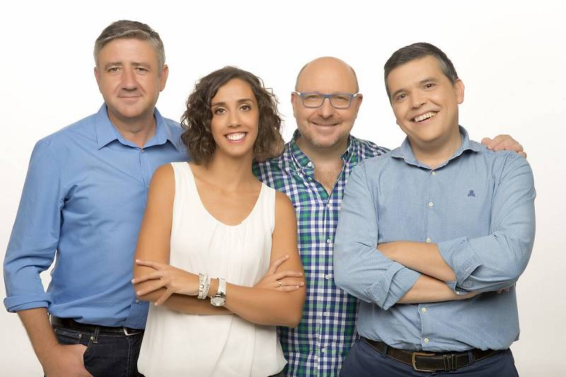 Ramón Arangüena, Raquel M. Alonso 'Rachel', Javier Capitán y Alfredo Menéndez, juntos en antena de 10.00 a 12.00 de L a V