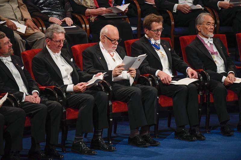 Entrega de los Premios Nobel 2016