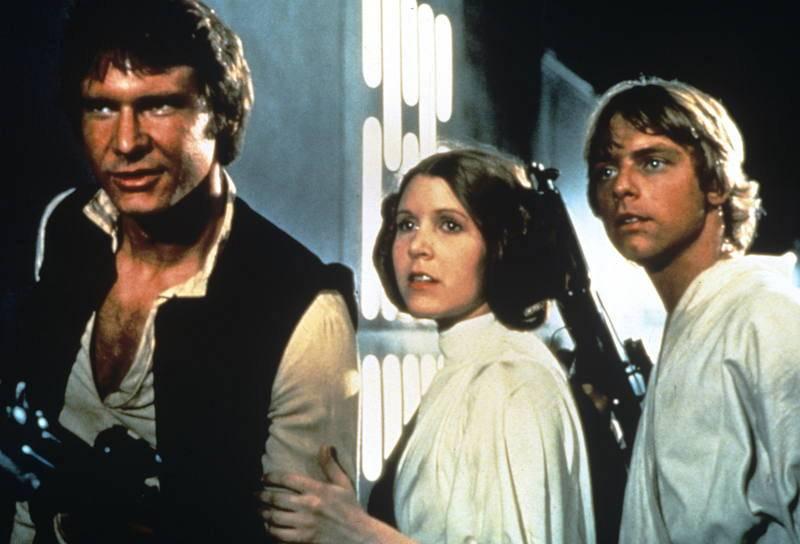 Los protagonistas de 'La guerra de las galaxias'