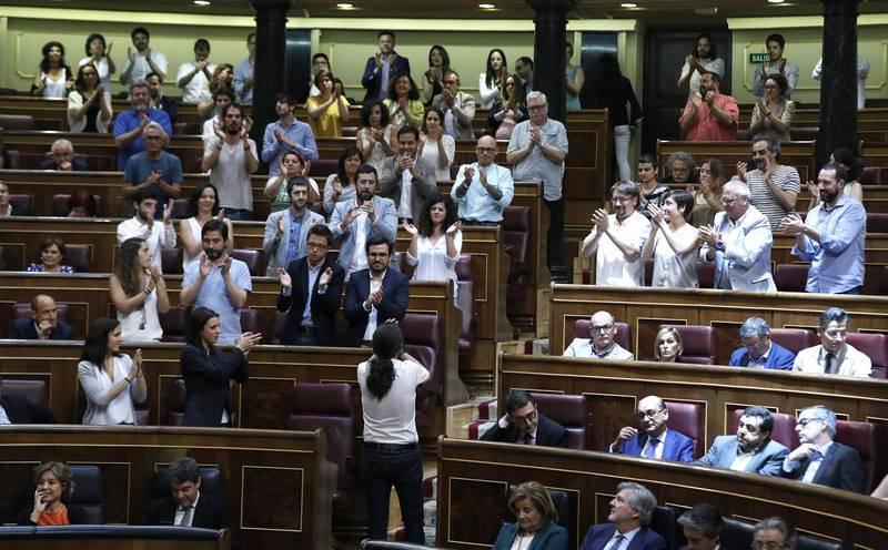 Pablo Iglesias, tras quedar rechazada la moción de censura