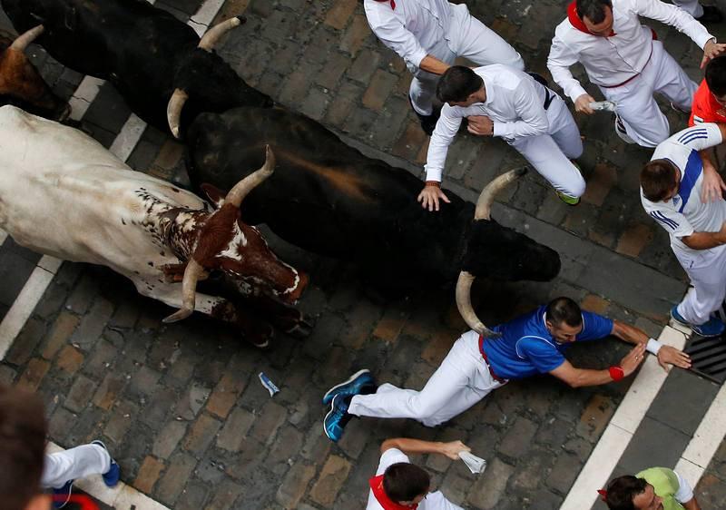 En una carrera muy rápida los toros de Fuente Ymbro han completado el recorrido del encierro en dos minutos y 18 segundos