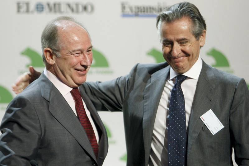 Miguel Blesa y Rodrigo Rato en un acto financiero