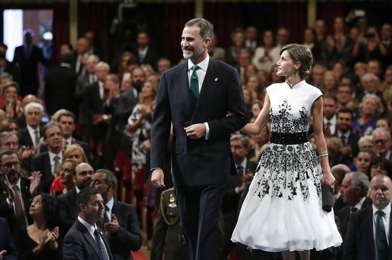 Los reyes Felipe y Letizia junto al inicio de la ceremonia de entrega de los premios P
