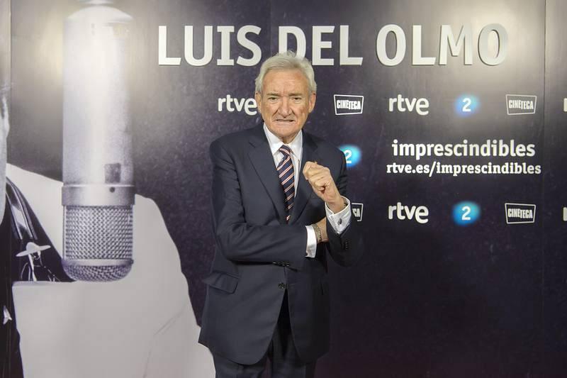 El periodista Luis del Olmo, en la presentación del documental sobre su vida y su carrera en la radio española