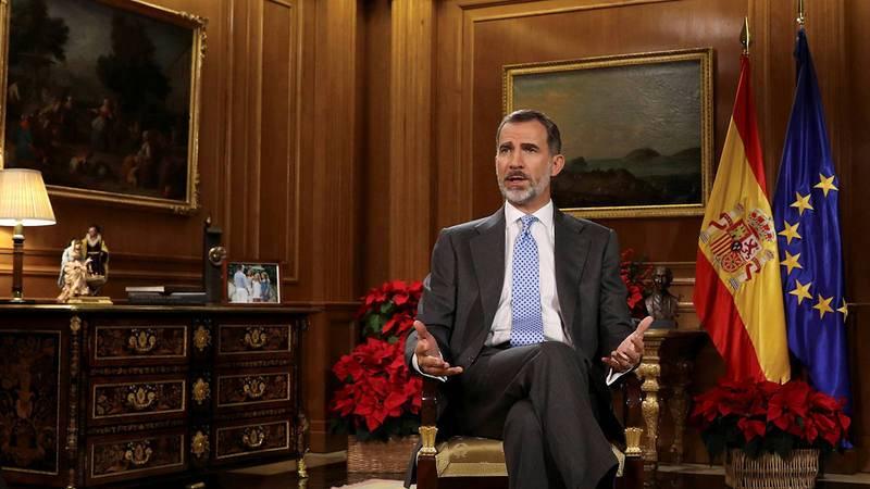 Felipe VI durante el discurso de Navidad.