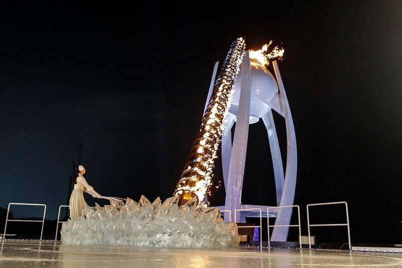 La patinadora sobre hielo coreana Kim Yu-na fue la encargada de encender el pebetero olímpico.