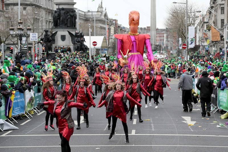 Desfile de San Patricio en Dublín