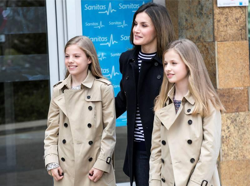 La reina Letizia y sus hijas, la princesa Leonor y la infanta Sofía