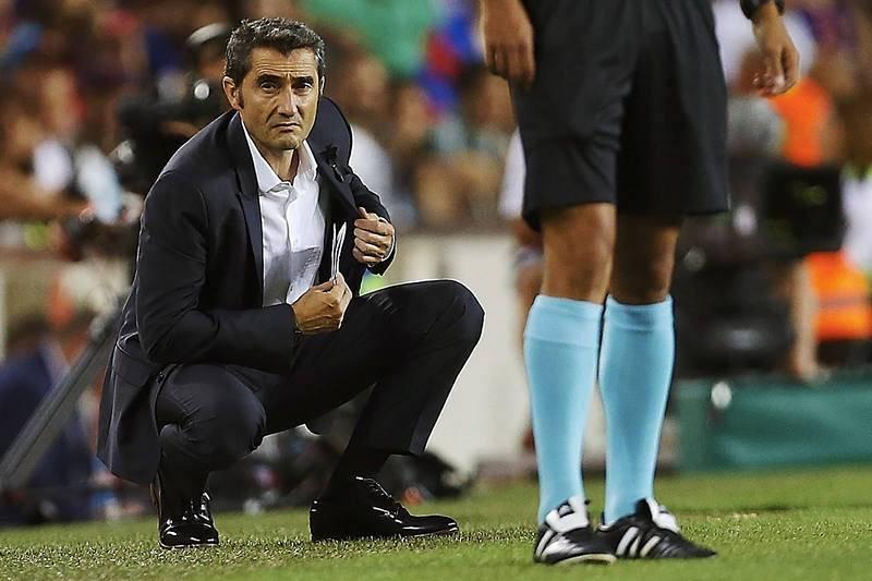 Ernesto Valverde se estrenaba en Liga como entrenador culé después de un arranque doloroso en la Supercopa de España.