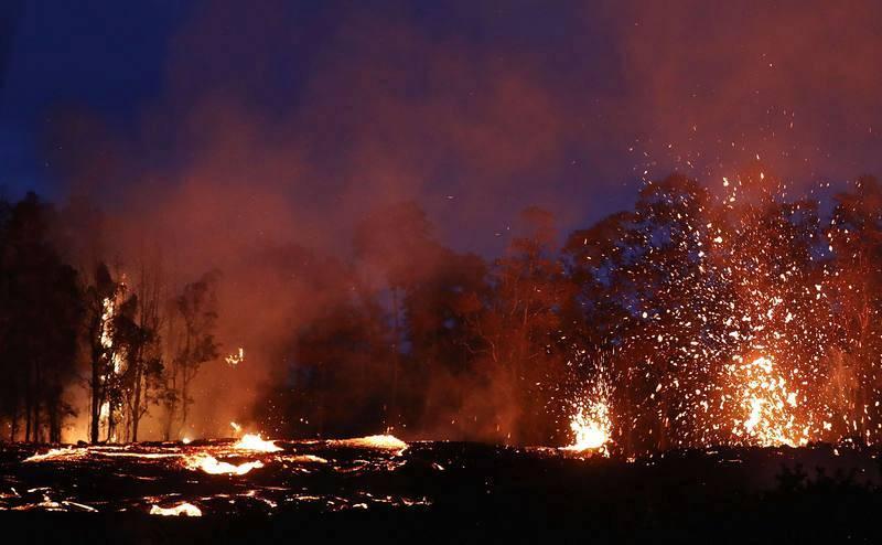 Surtidores de lava