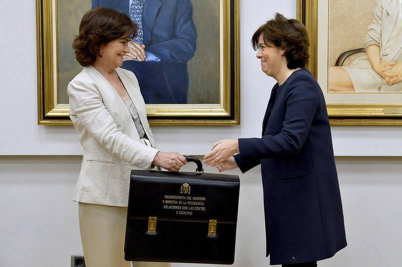 Traspaso de carteras | Vicepresidencia: Soraya Sáenz de Santamaria - Carmen Calvo