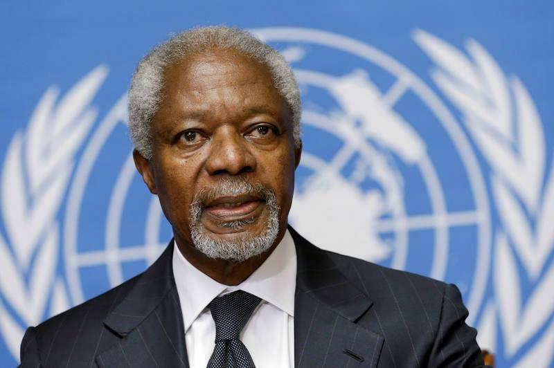Kofi Annan durante una conferencia de prensa en la sede de la ONU en Ginebra (02/08/2012)