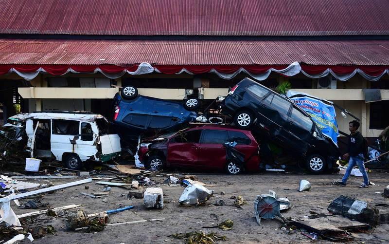 Una zona devastada de Palu
