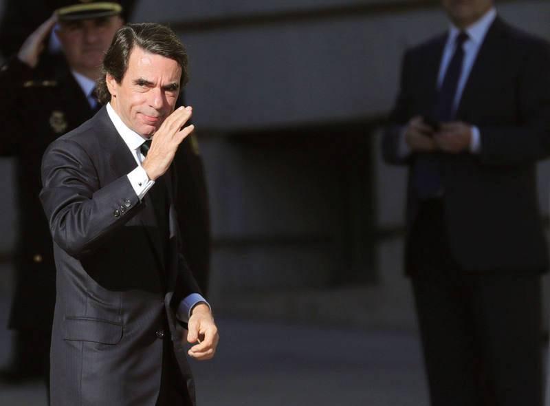 El expresidente José María Aznar llega al Congreso