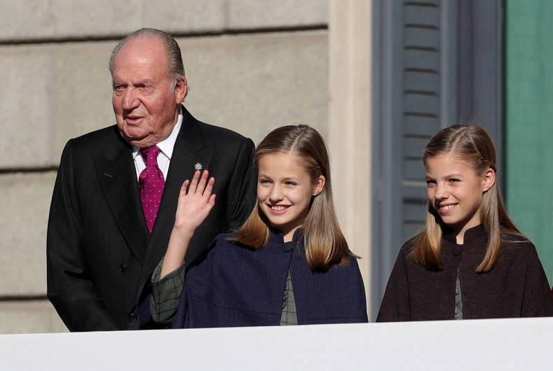 El rey emérito y la heredera al trono, juntos en el Congreso