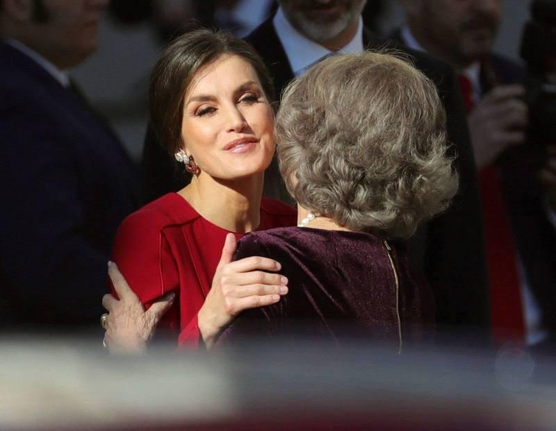 Dos reinas en el aniversario de la Constitución