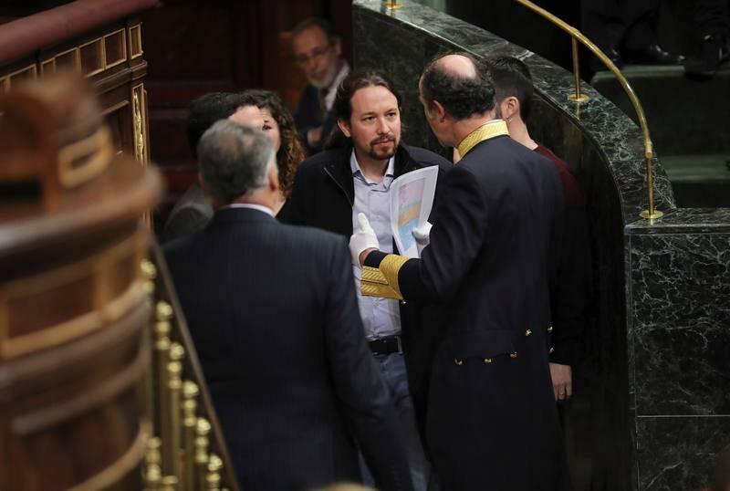 Pablo Iglesias acude a los actos del 40º aniversario de la Constitución