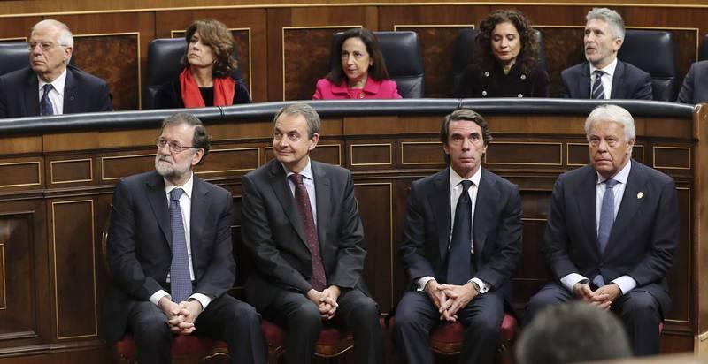Cuatro expresidentes del Gobierno unidos por la Constitución