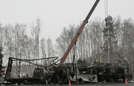 25 muertos en un accidente de autobús en Rusia
