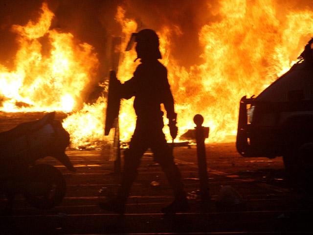 Disturbios en Rekalde tras el cierre de un centro juvenil