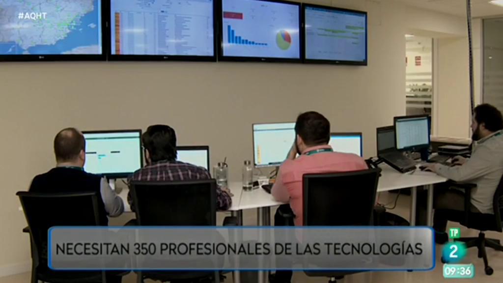 350 empleos para profesionales de las tecnologías