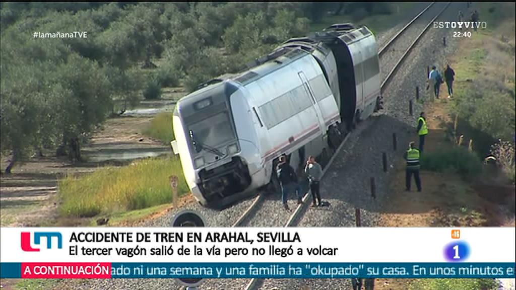 Accidente de tren en la línea Málaga-Sevilla