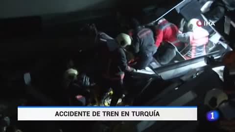 Accidente de tren en Turquía con 9 muertos y 43 heridos