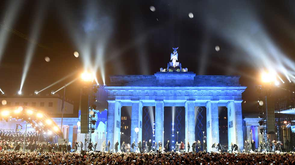 Actos de celebración en Berlín por el 25 aniversario de la caída del muro