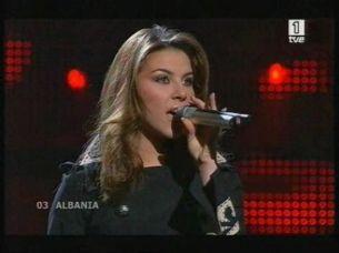 Eurovisión 2008 - Actuación de Albania con Olta Boka