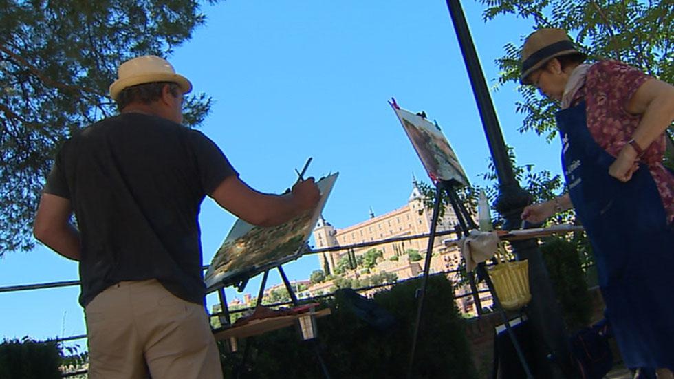 Acuarelistas de todo el mundo pintan Toledo durante el fin de semana